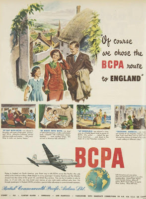 BCPA travel ad, August 1951 (Australian Women's Weekly)