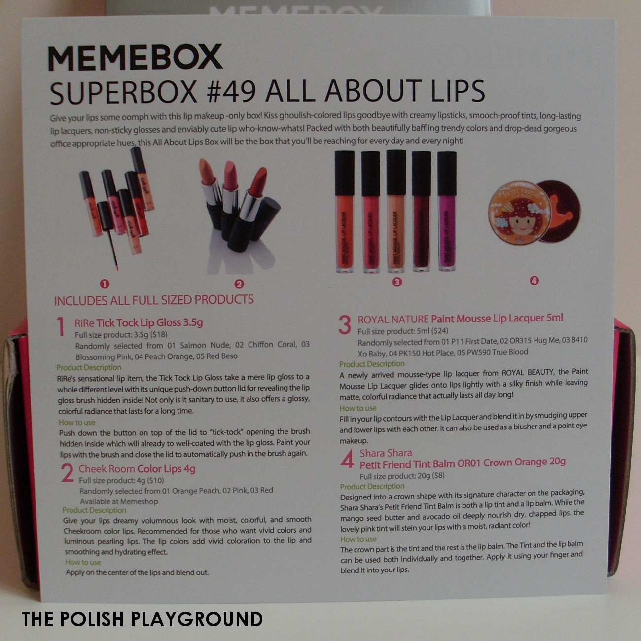 Memebox Superbox #49 All About Lips Unboxing