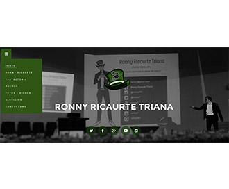 Ronny Ricaurte - Sitio Web
