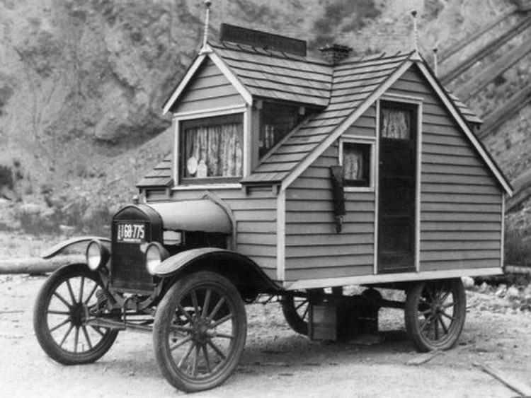 vintage everyday Tiny House on Wheels ca 1926