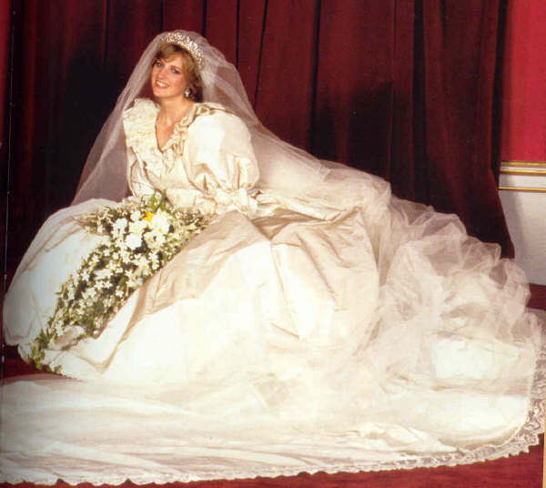 princess diana wedding tiara. Royal wedding dresses may be