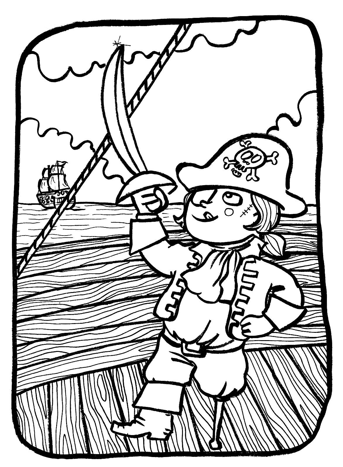 Marion de castillon juillet 2011 - Coloriages pirates ...