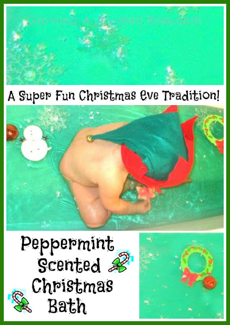 Christmas activities for kids- themed Christmas bath