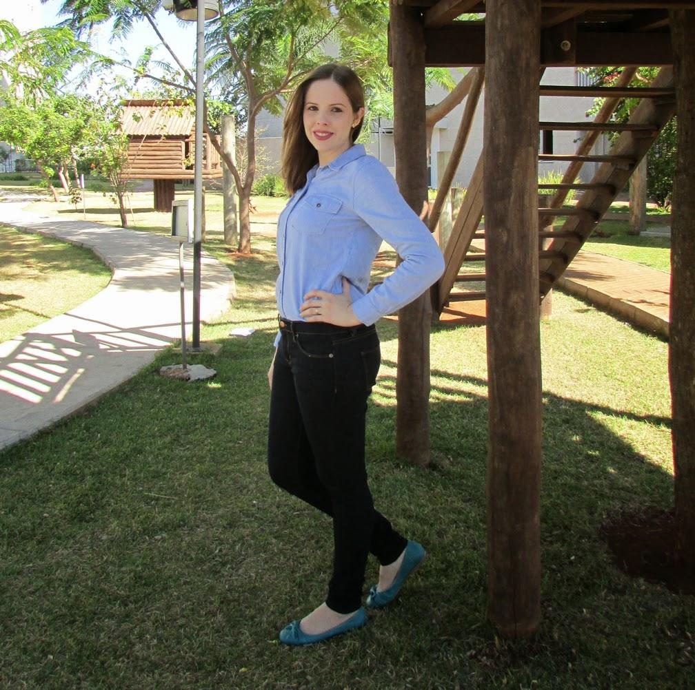 Look, Sapatilha, Azul Céu, Amora Shoes