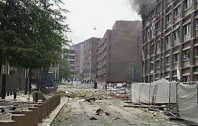 Explosion rocks gov't HQ in Oslo