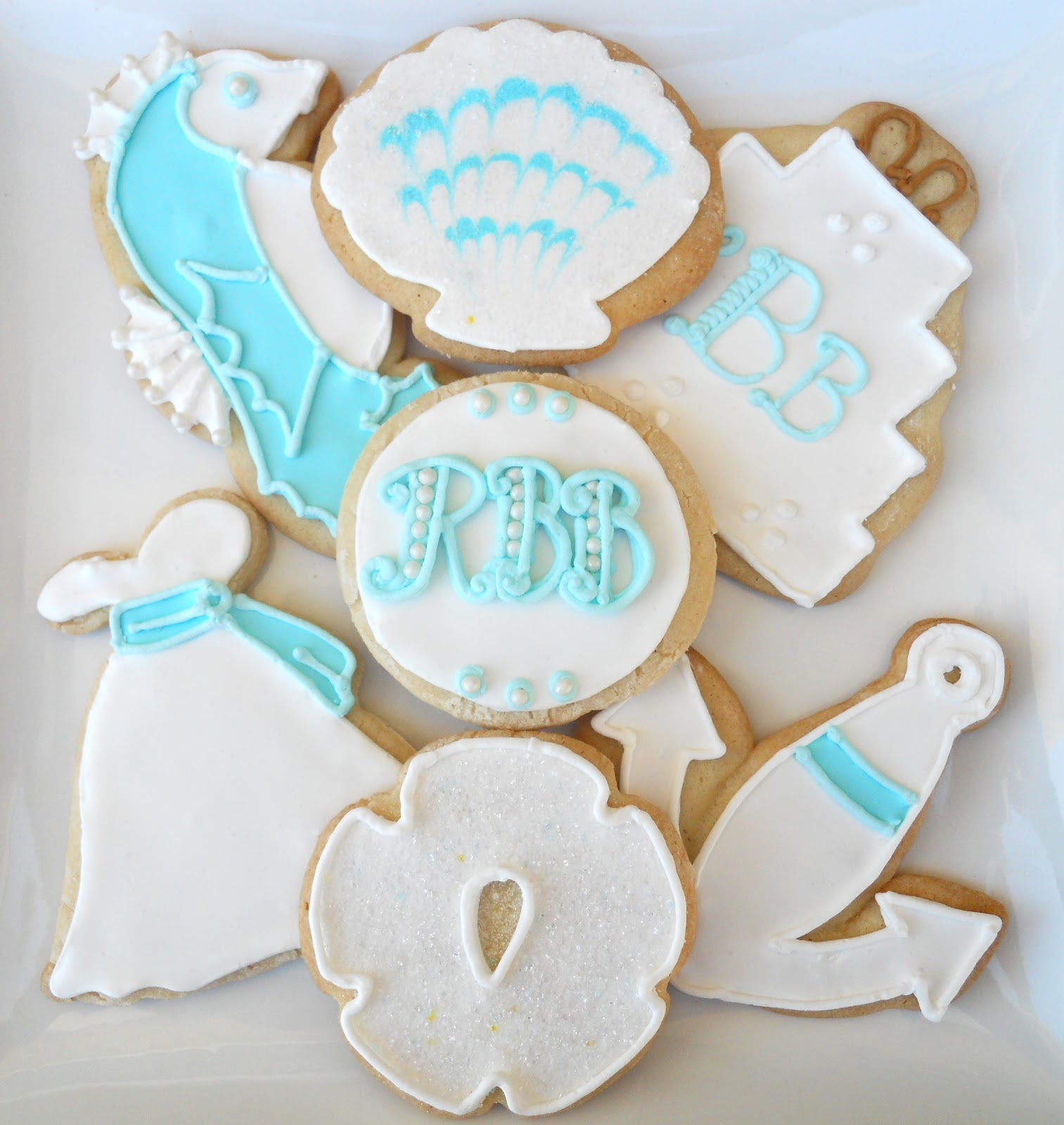 Oh Sugar Events: Nautical Wedding Cookies
