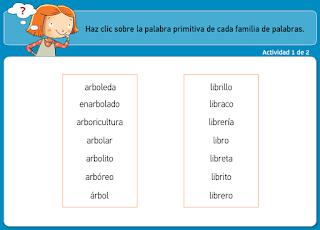 http://www.primerodecarlos.com/TERCERO_PRIMARIA/archivos/actividades_tilde_tercero/3/familia_palabras.swf