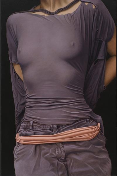 willi kissmer pinturas realistas mulheres bundas seios mamilos tecidos roupas transparentes