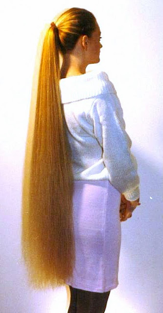 long haired women hall of fame beautiful ponytails 2