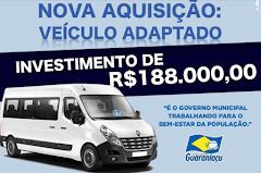 Guaraniaçu - Governo investe 188MIl em Veículo Adpatado