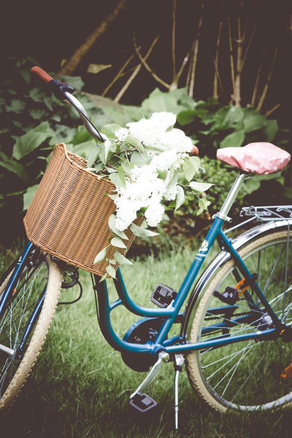 Das neue Fahrrad mit neuem Sattelbezug