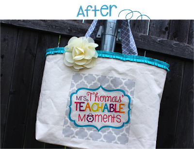 Tote bag makeover before and after