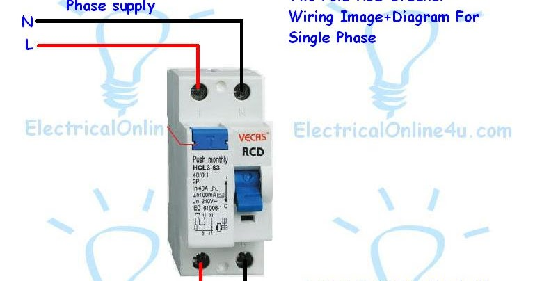How To Do 2 Pole Fixed RCD Wiring For Protection Electrical