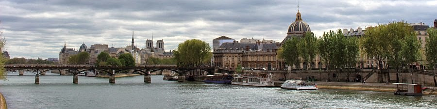River Seine, Paris, Easterly view towards the Notre Dame cathedral