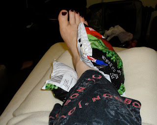 sprained ankle frozen peas