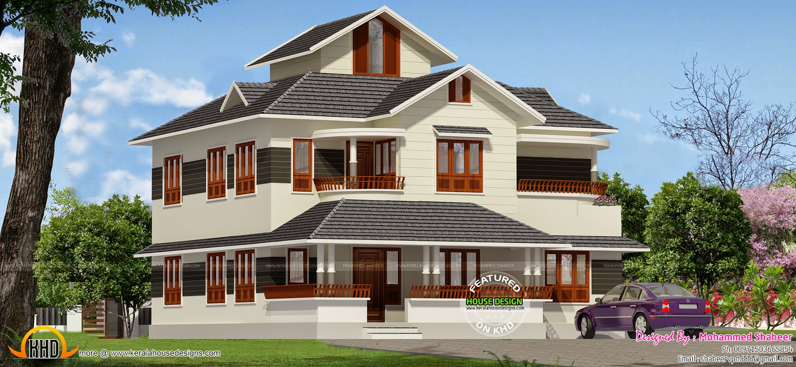 Ground Floor Elevation 3d : Square feet bedroom home kerala design and
