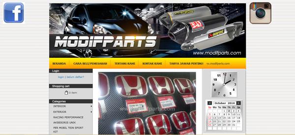 Modifparts.com Jual Aksesoris Otomotif Terpercaya