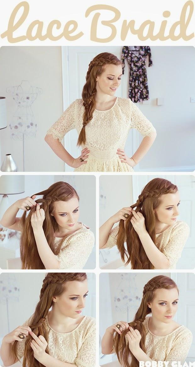 cara mengepang rambut seperti air terjun sendiri tutorial model rambut ...