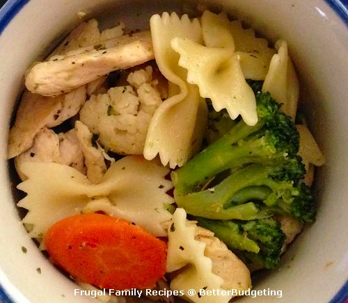 Chicken and Vegetables with Bowtie Pasta