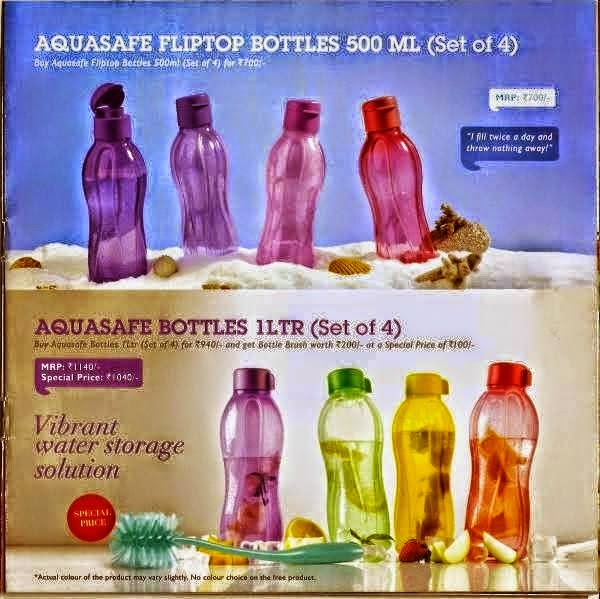 Aquasafe Fliptop bottles 500 ML(set of 4)