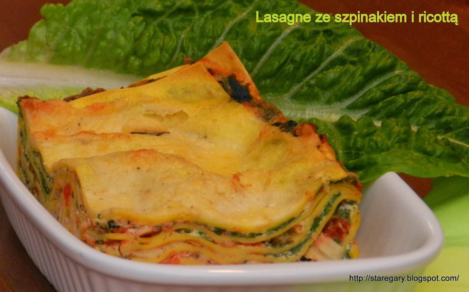 Zapiekanka makaronowa czyli Lasagne ze szpinakiem i ricottą