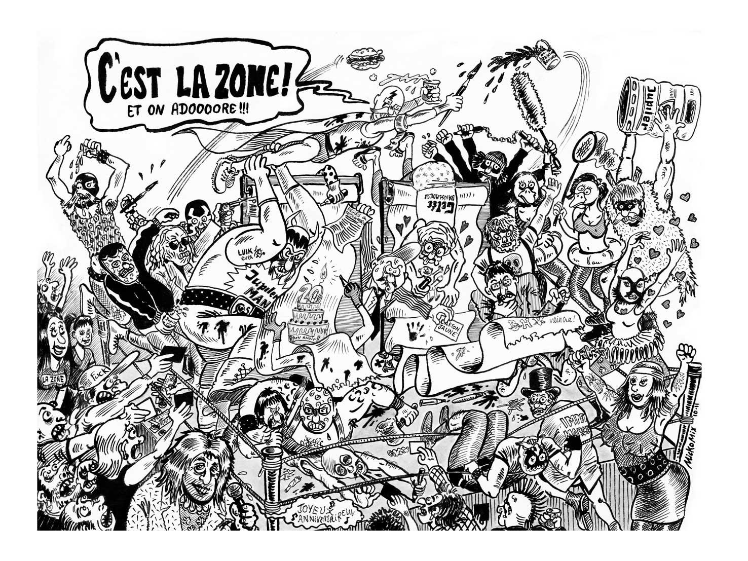 Catch de dessin la zone li ge belgique a 20 ans - Dessin anniversaire 20 ans ...