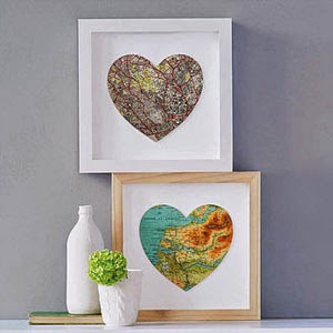 Ma Bicyclette - Buy Handmade - Valentines Gifts For Her - Bombus - Heart Map