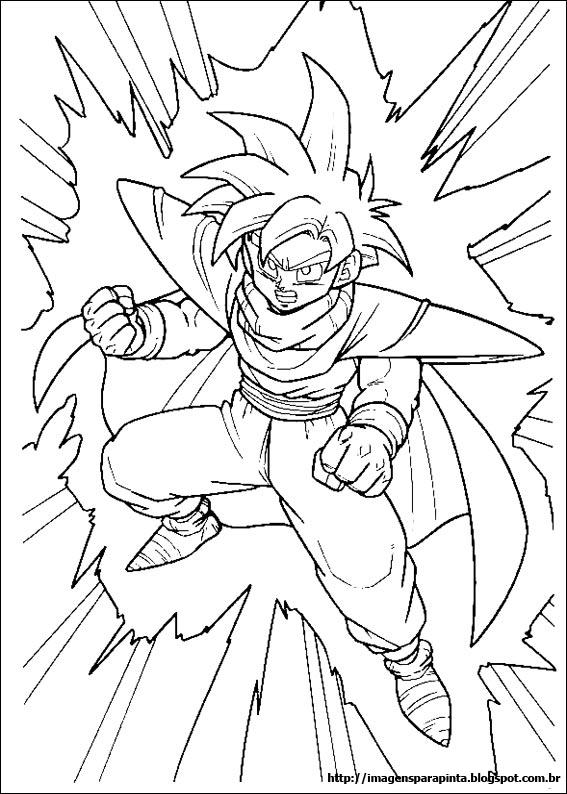 Desenho como desenhar Dragon ball z super sayajin pintar e colorir