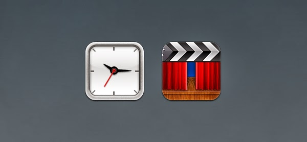 Clock and Movie Icons