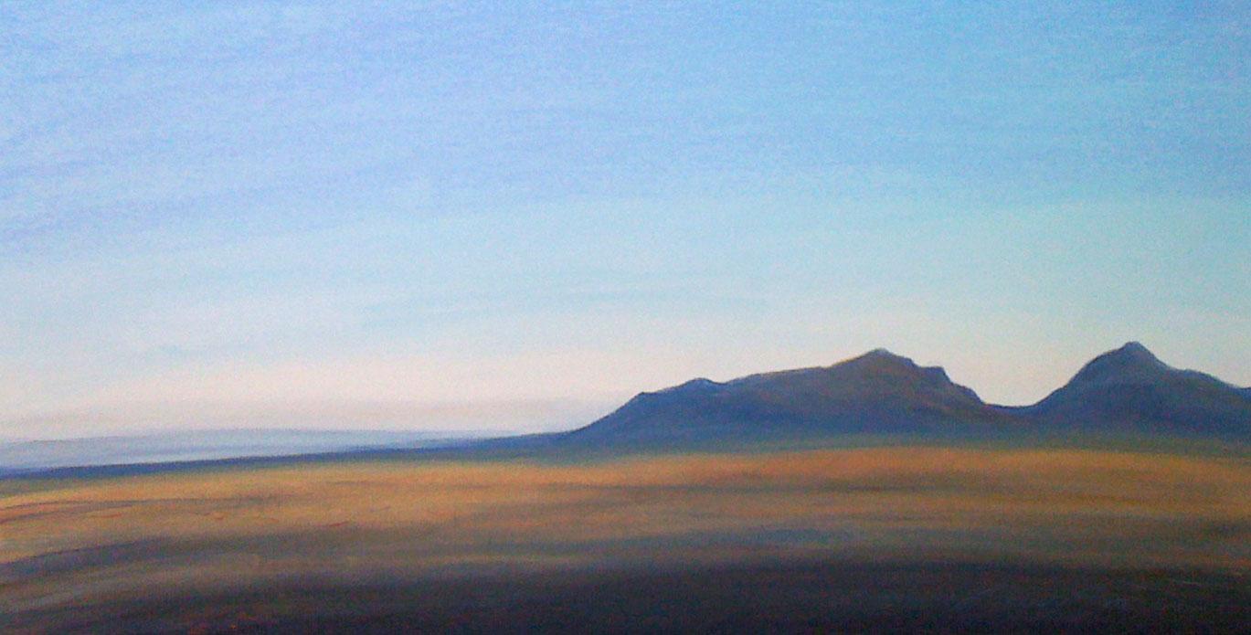 ©2010 anne m bray, Desert Sunset, pastel