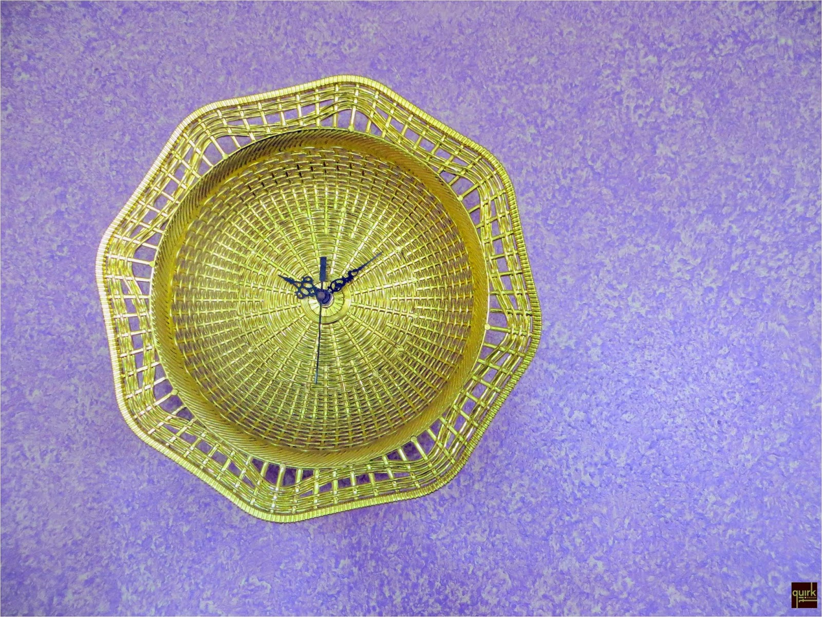 Quirk It Design_Good Gold Times_plastic plate to gold wall clock_DIY_Upcycle_Home_Decor