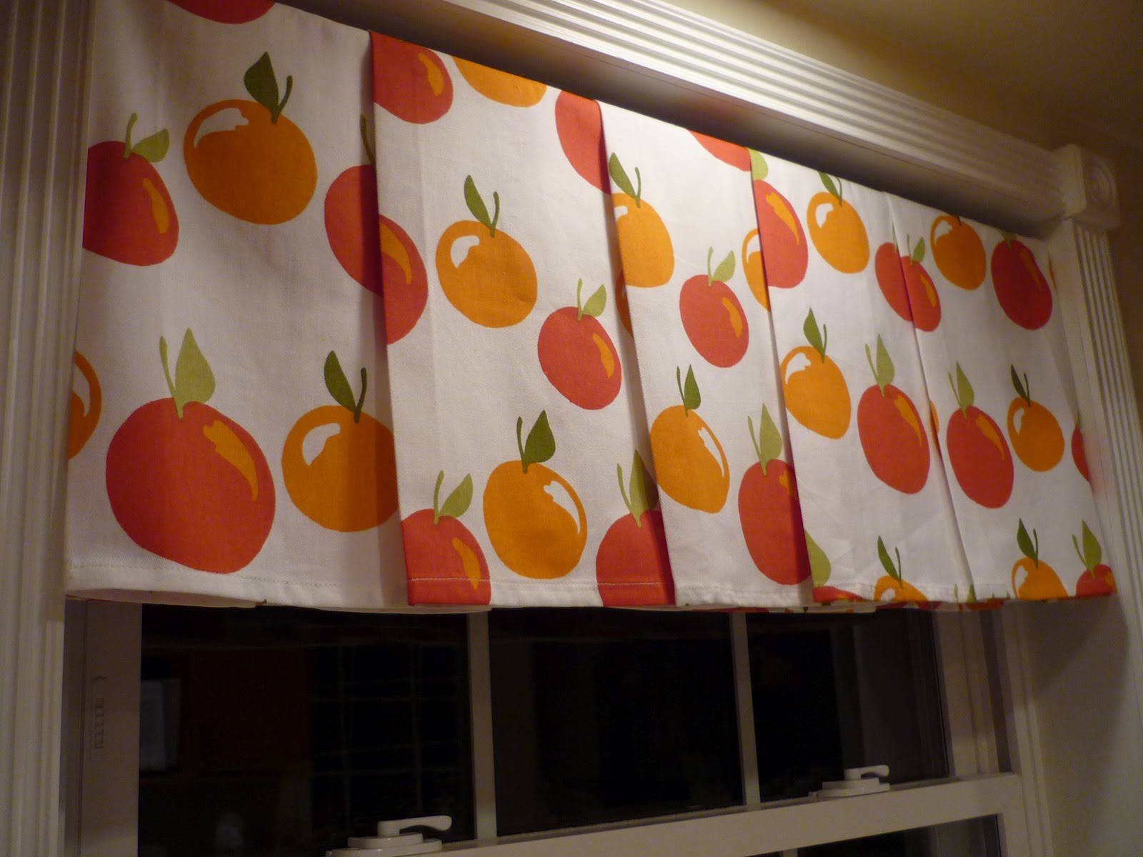 #B0631B Dish Towels At The Kitchen Window. No Sew. Bright And Cheeryo!