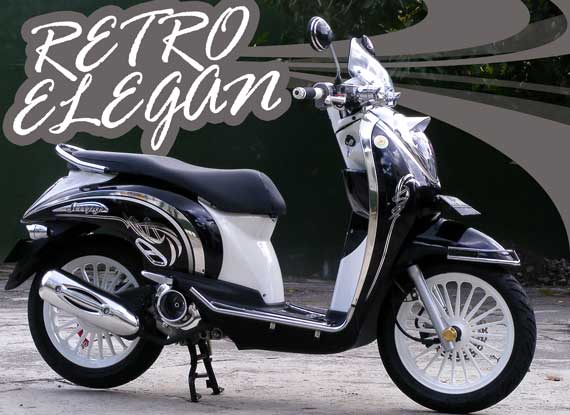 Gambar Modifikasi Honda Scoopy Retro