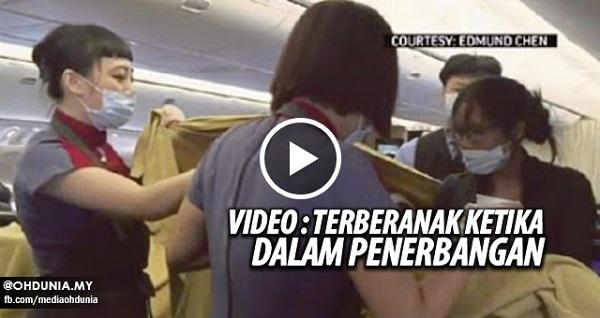 Wanita Taiwan terberanak 8 minggu awal ketika dalam penerbangan