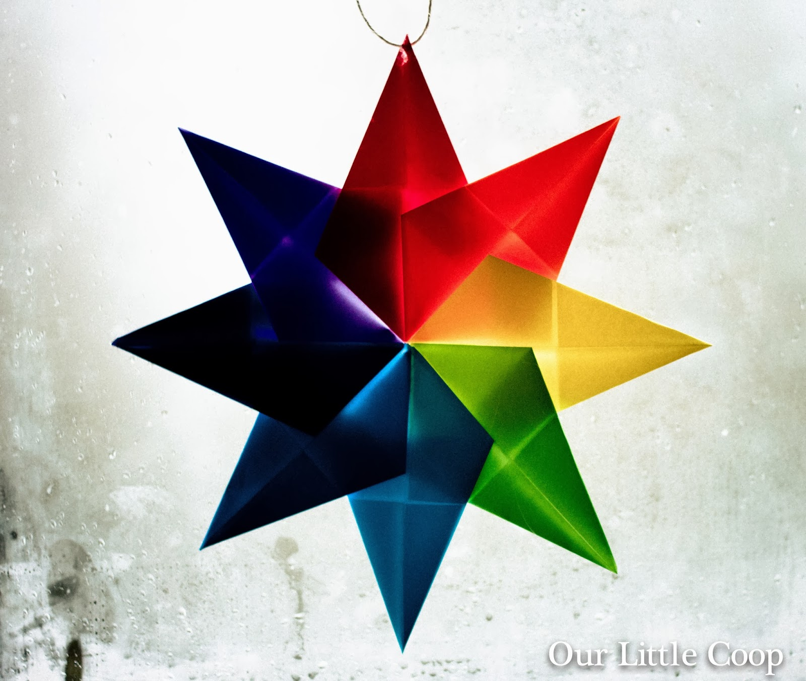 How to make: Origami Window Stars, origami project, kids