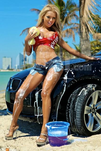 Hot Sexy Girls Women Babes Washing Car Gif Gif