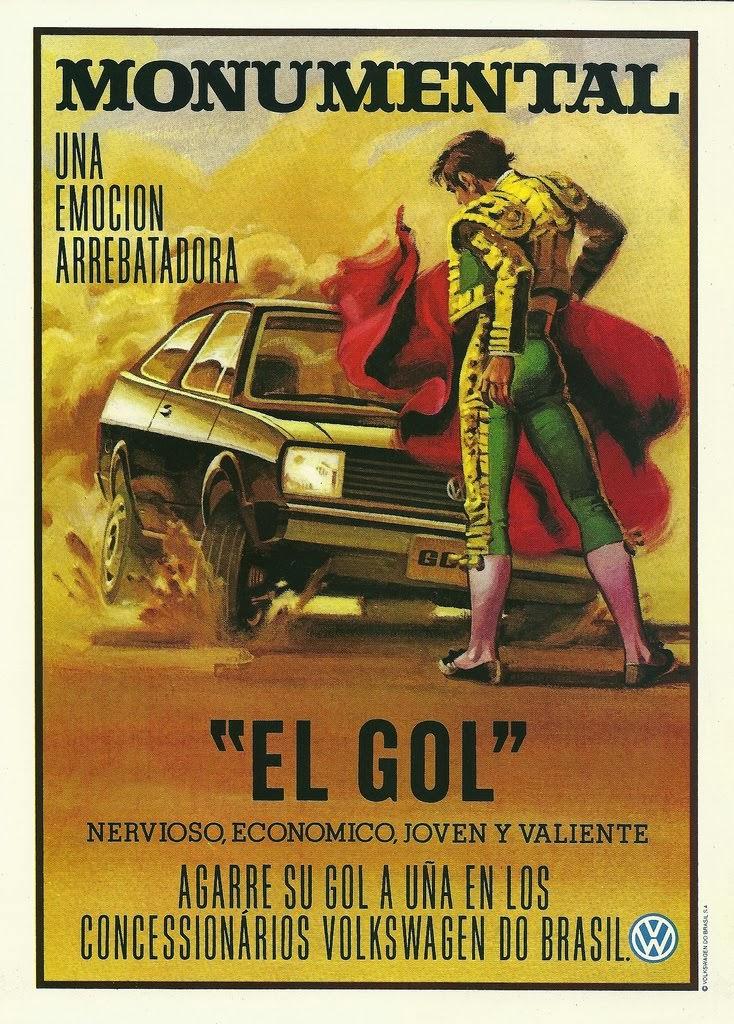 Propaganda do Gol, em 1982 - Anúncio em Espanhol - Volkswagen.