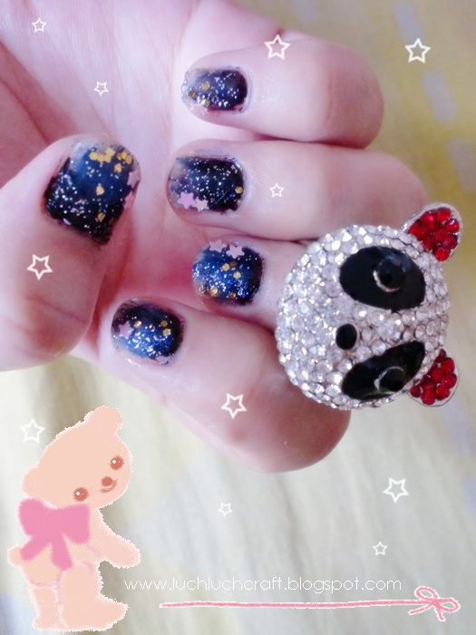 star nail art tutorial
