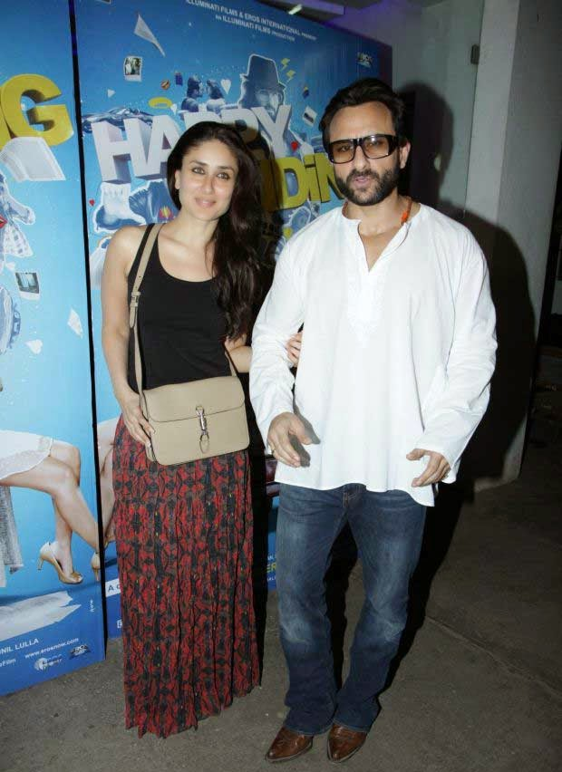 Kareena Kapoor and Saif Ali Khan at Happy Ending screening