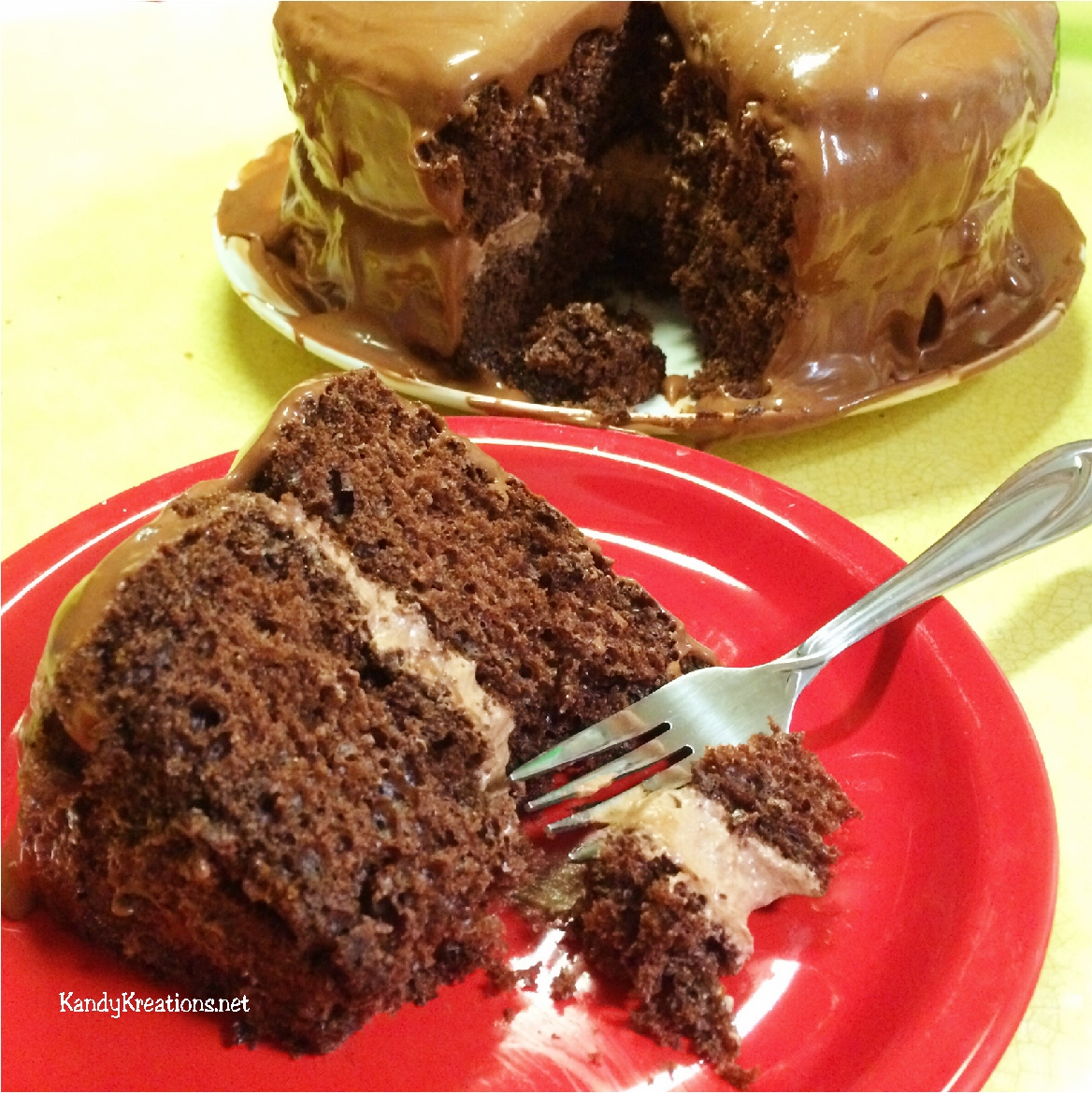 the best chocolate cake with cream filling ever. Using boxed cake