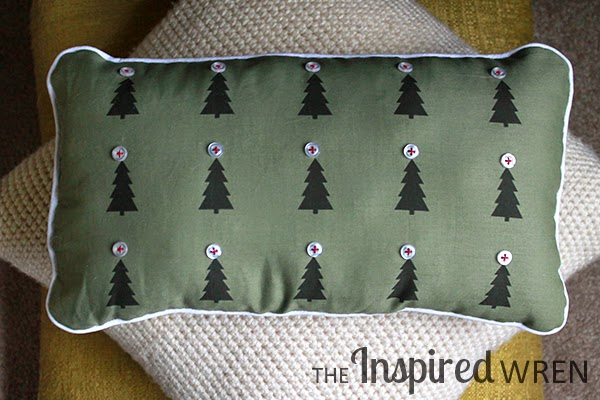 Christmas Forest Pillow Tutorial -- with ink-jet printed fabric! | The Inspired Wren