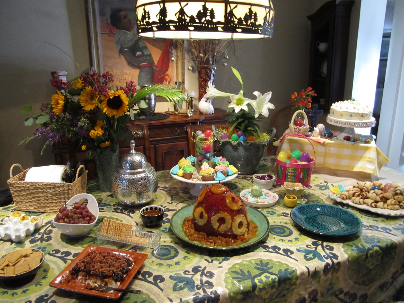 Easter+-+Easter+decor+-+Easter+table+-+dinner+-+buffet+-+tablescape+by ...