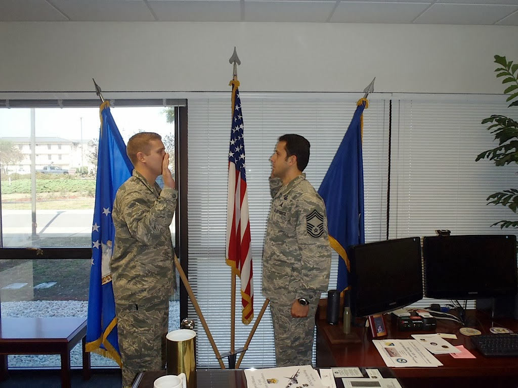 CMSgt Carlos Neris Is Administered His Last Reenlistment Oath By His Son  2Lt Neris. Lt Neris Is Currently Going Through The CCT/STO Pipeline And Was  Able To ...