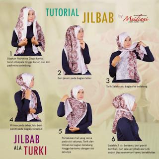 Aneka Cara Memakai Hijab Modern ala Wanita Turki