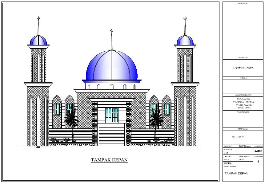 AR_Chitec: Design Masjid Bekasi