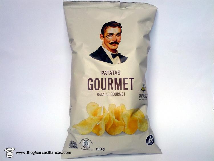 Patatas fritas gourmet con aceite de oliva virgen de Aldi fabricadas por Papes Safor en Valencia. Crujientes y sabrosas.