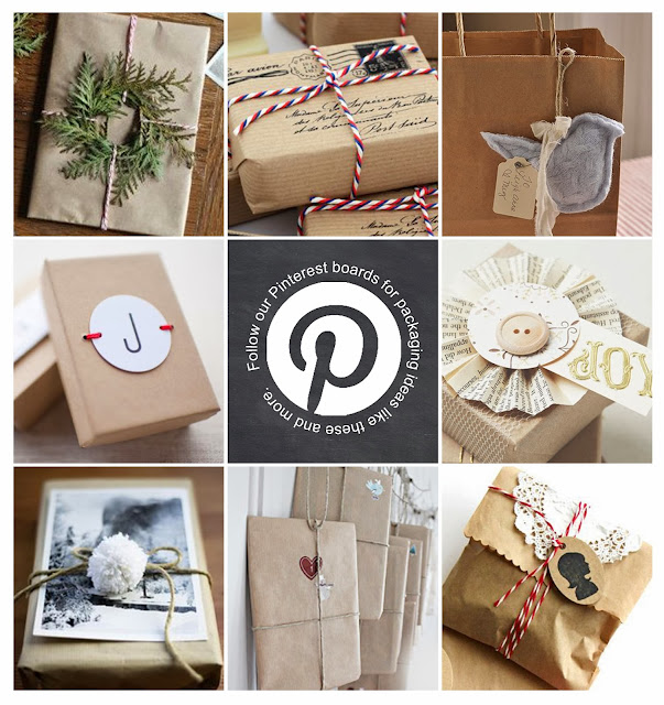 "kraft gift wrapping ""Pin""spiration by Lorrie Everitt"