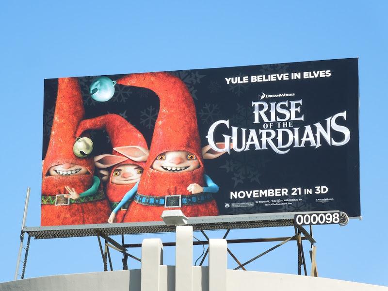 Elves Rise of Guardians movie billboard