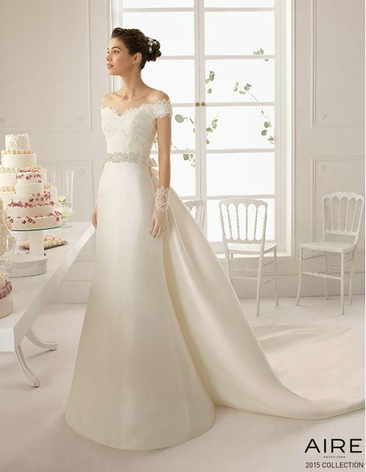 blog mi boda: sorteo vestido de novia aire barcelona colección 2015