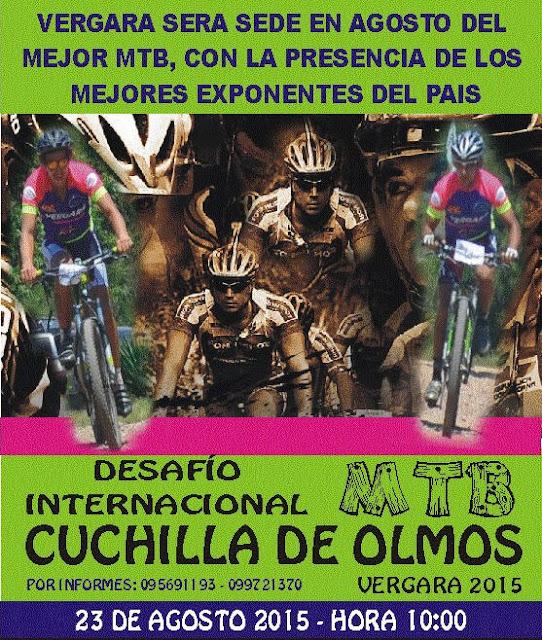 MTB - Desafío internacional Cuchilla de Olmos (Vergara, Treinta y tres, 23/ago/2015)